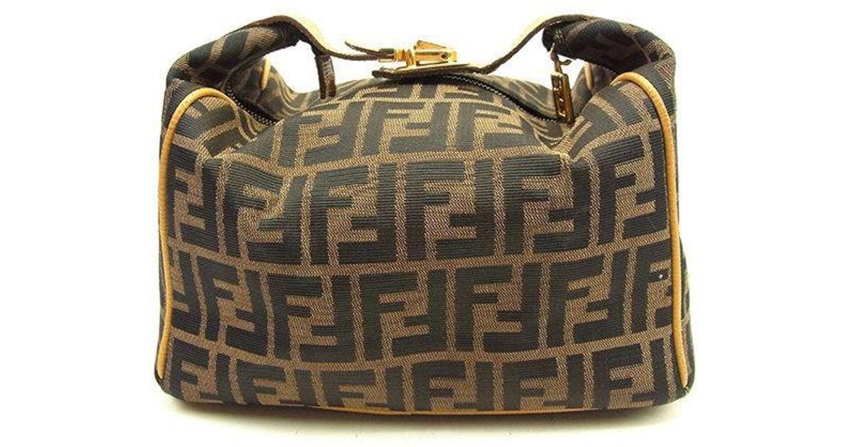 Lyst - Fendi Handbag Zucca Ladies Used T1076 in Natural c08583d704fe7