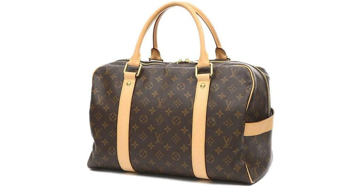 86a365239aa28 Lyst - Louis Vuitton Monogram Carry All-boston Bag M40074 Luggage in Brown  for Men