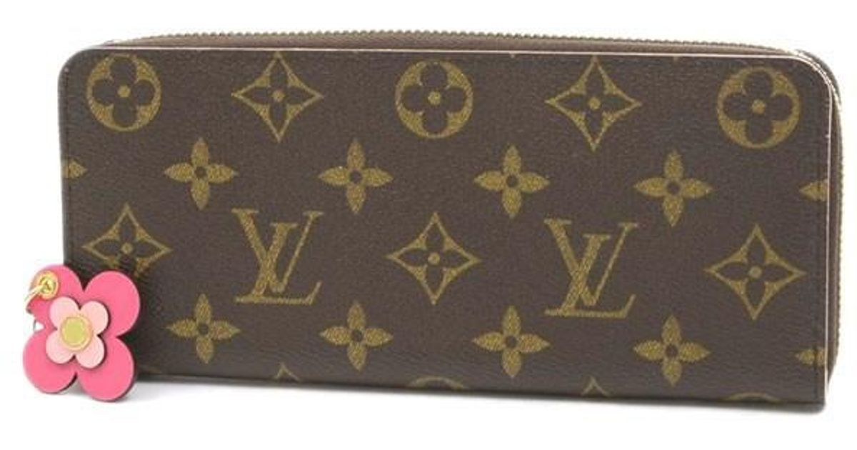 e8f1d081f044 Lyst Louis Vuitton Monogram Portefeiulle Clemance Purse Flower