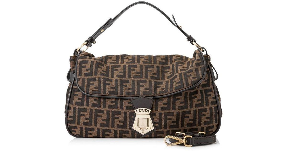 Lyst - Fendi Pre-owned Zucca Sling Bag in Brown bc3155aa20b61