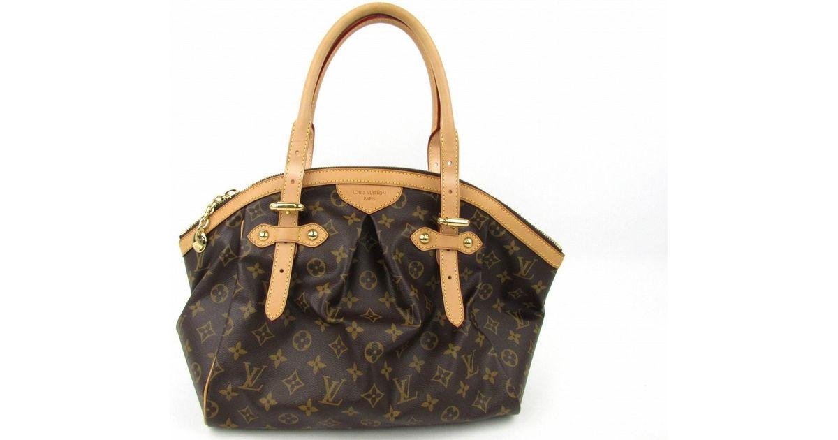 Lyst Louis Vuitton Lv Tivoli Gm Hand Bag M40144 Monogram Black Friday Thanksgiving 2580 In Brown