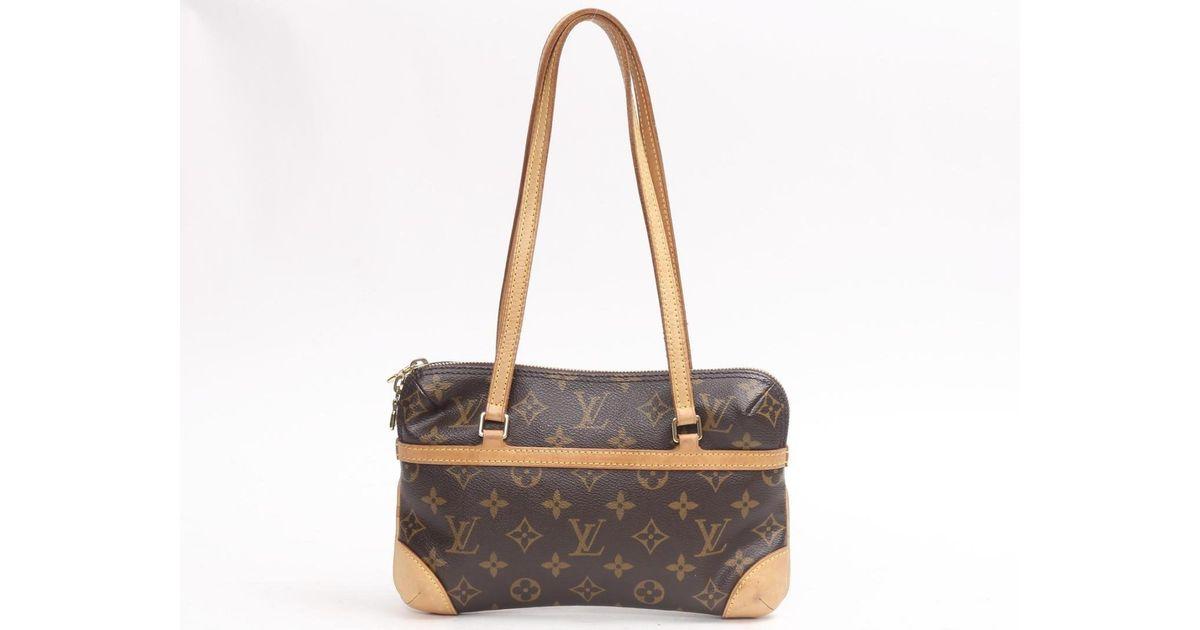 Lyst - Louis Vuitton Mini Coussin Shoulder Flat Bag M51143 Monogram Brown  in Brown 08573b643ee88