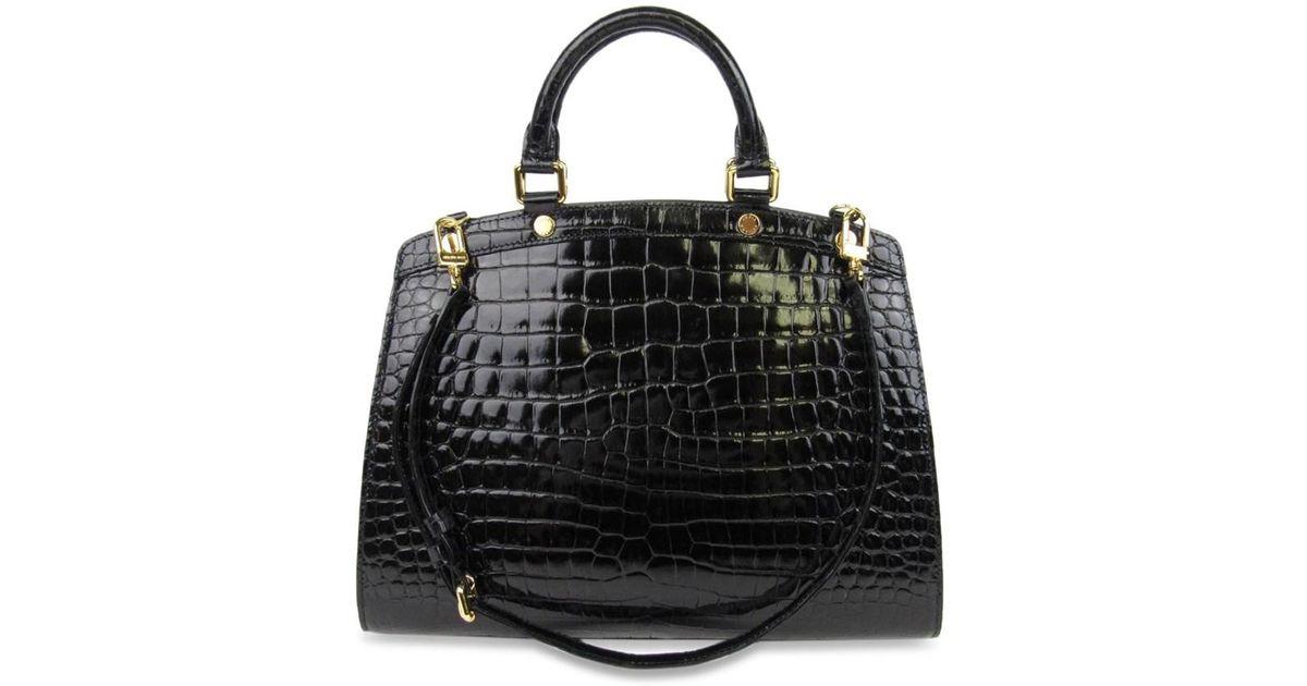 aa8b90f19111 Lyst - Louis Vuitton Crocodile Brea Mm Shoulder Bag Black N92327 in Black