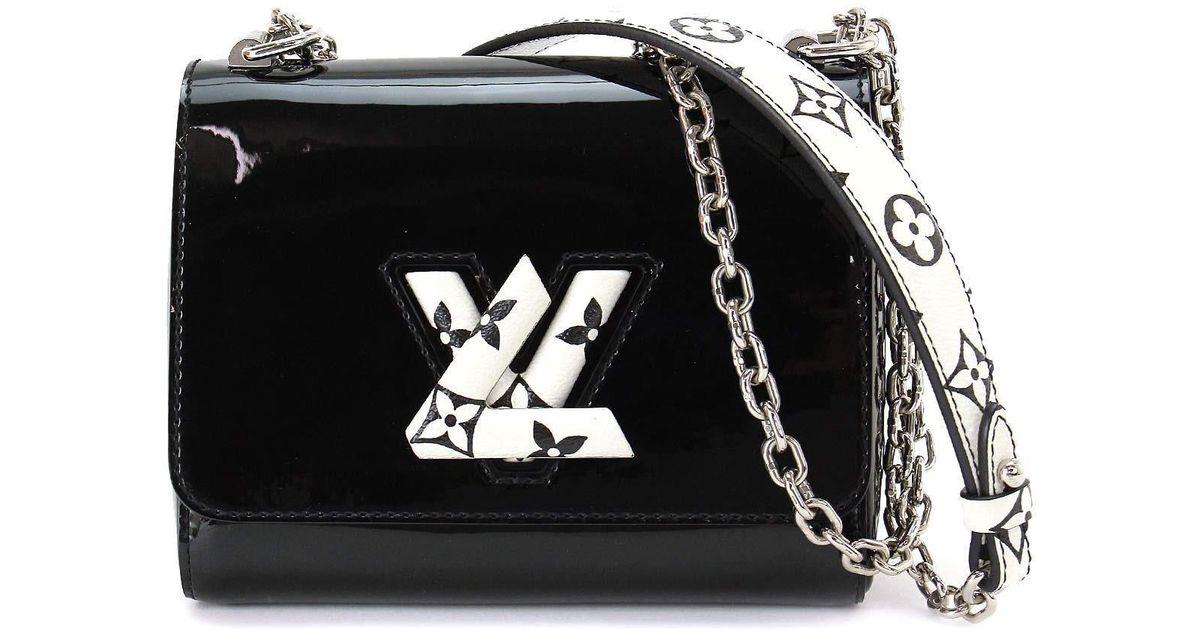 72ef2e6c7547 Lyst - Louis Vuitton Twist Pm Shoulder Bag Patent Leather Noir M54243  90040295.. in Black