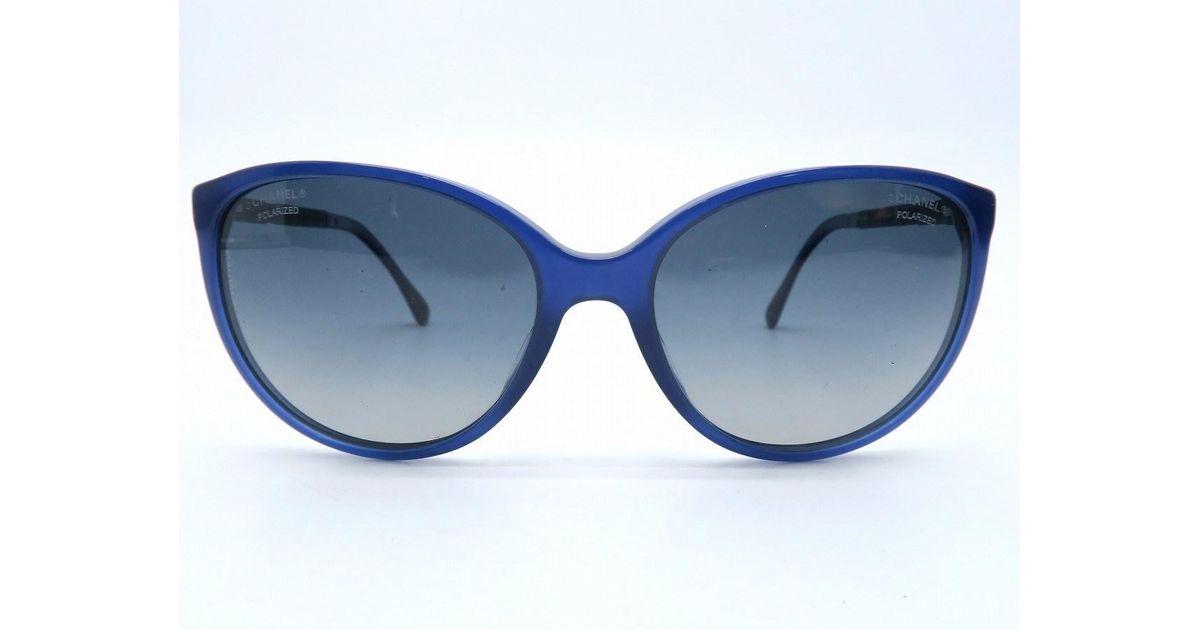 bd659c7920e4 Lyst - Chanel Pvc Sunglasses Blue 5657 in Blue