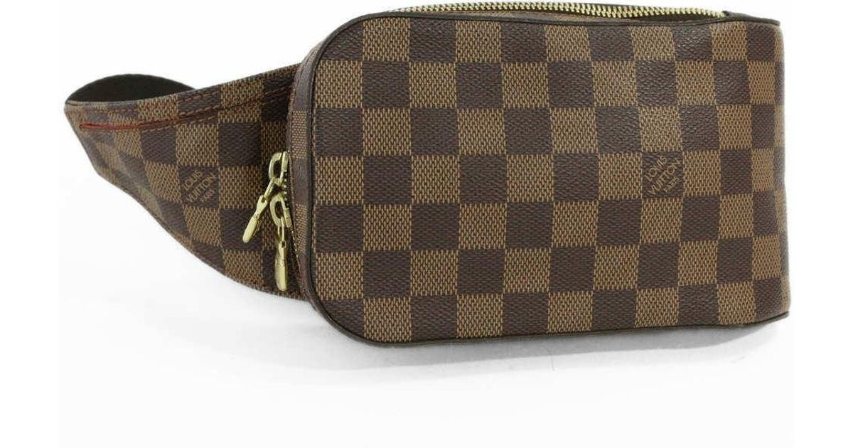 ed0752f94fb Lyst - Louis Vuitton Damier · Ebene · Geronimos · Body Bag · Waist Pouch Bag    N 51994   Brown   in Brown