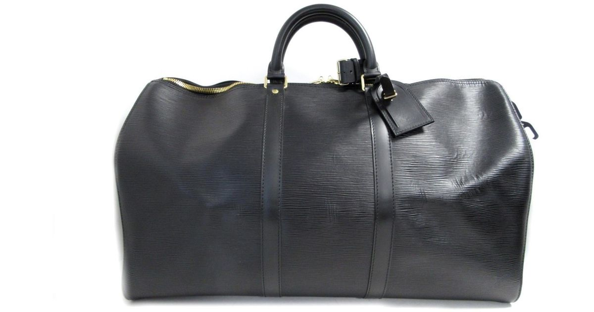 5c79dd41d661 Lyst - Louis Vuitton Authentic Keepall 50 Boston Bag M42962 Epi Leather  Used Vintage in Black for Men