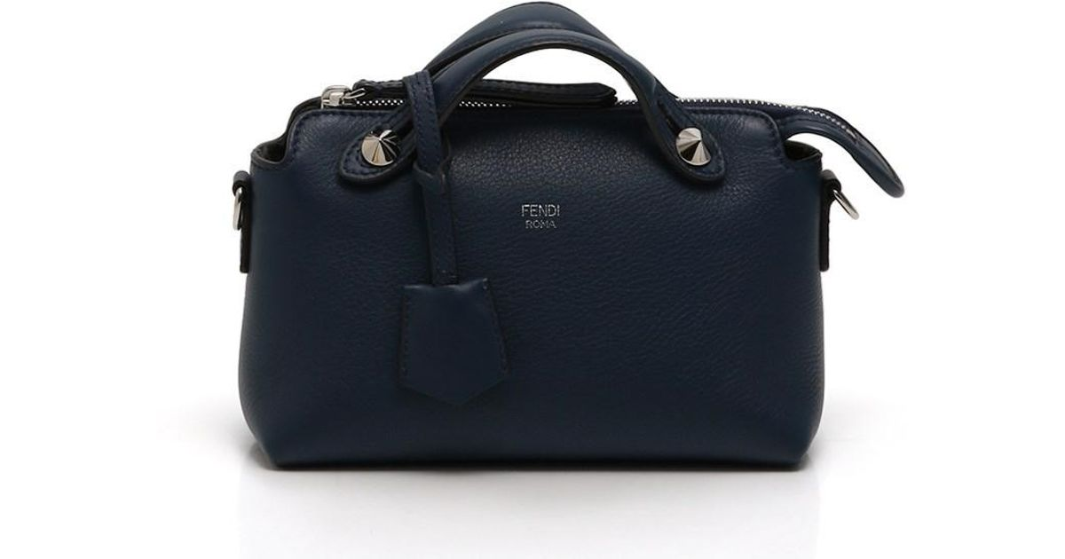 Lyst - Fendi Mini Baizawei By The Way Handbag 2way Leather Navy in Blue ea11d01cfe