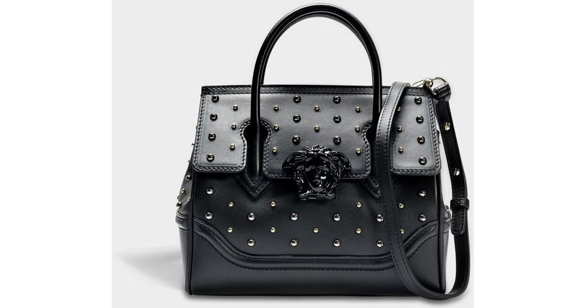 feda827ef5bf Lyst - Versace Palazzo Empire Small Bag In Black Calf And Studs in Black