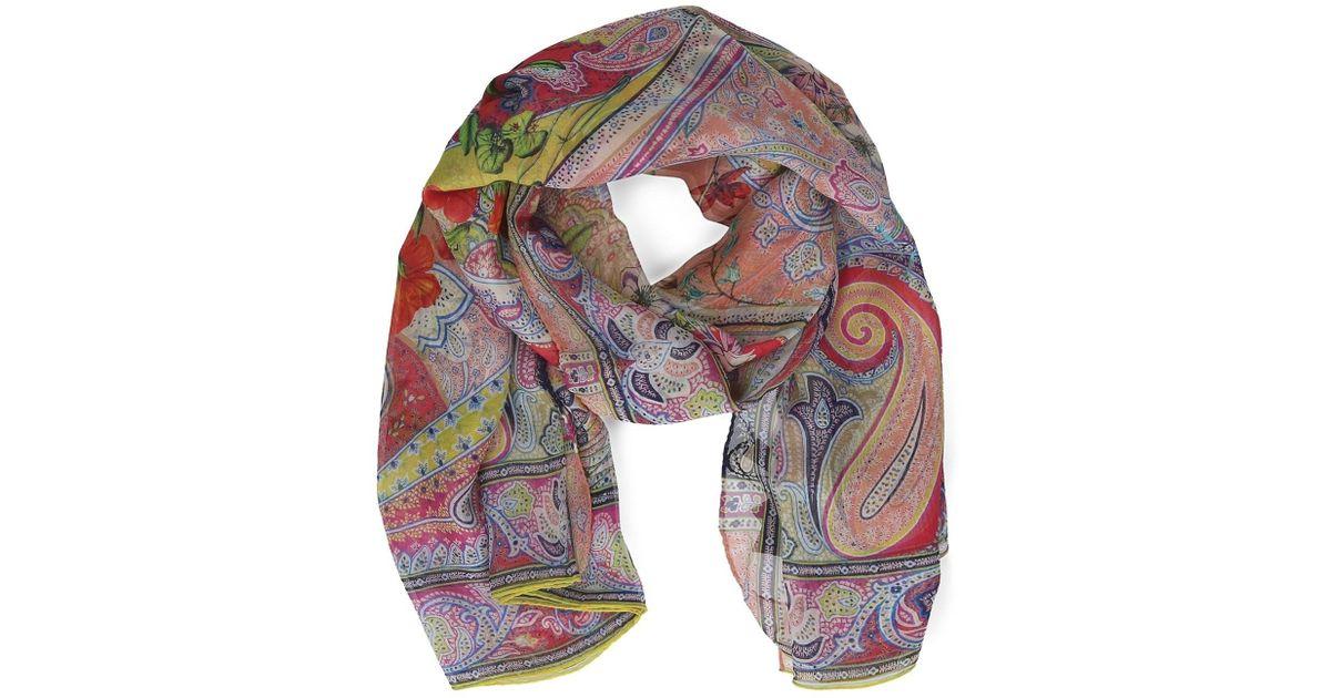 super popular f154b 7d8b8 Etro - Women's 100105756750 Multicolor Silk Foulard - Lyst