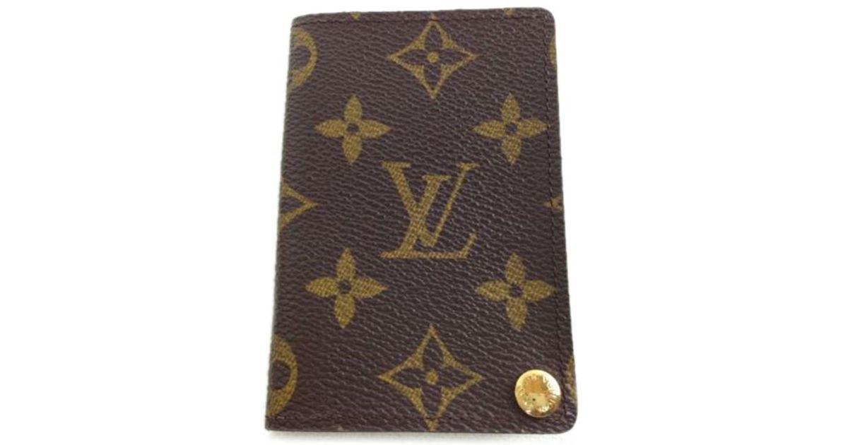 f998a710488d Lyst - Louis Vuitton Porte Cartes Credit Pression Monogram Card Case  5j140140  in Brown