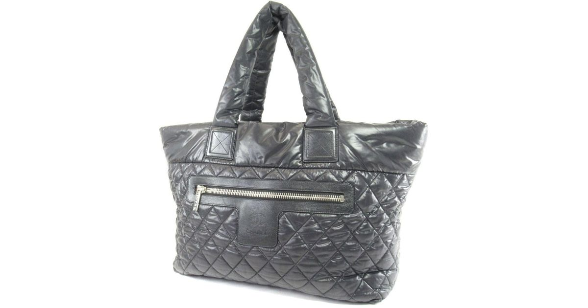 5784be7a5bad Chanel Nylon Tote Bag Coco Cocoon in Black - Lyst