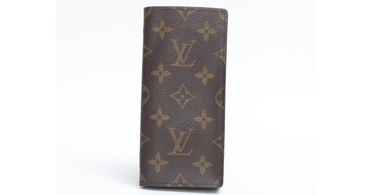 3c5cf6783a6b Lyst - Louis Vuitton Glasses Case Monogram Canvas M62962 in Brown