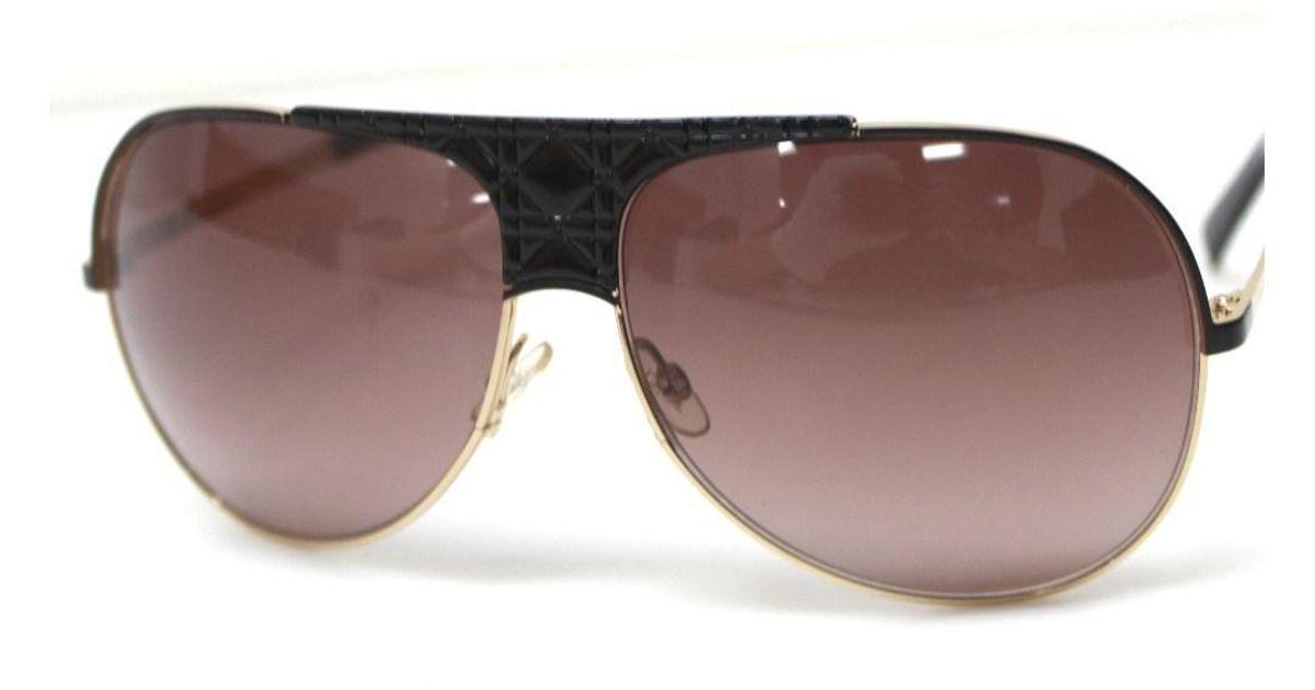 db8568bd5301 Lyst - Dior Christian My Lady 8 Sunglasses Black gold Metal Vn0d8 in Black