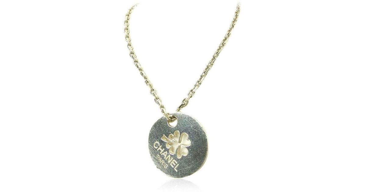 Lyst - Chanel Necklace Clover Womens Used Y2246 in Metallic f524aa788a