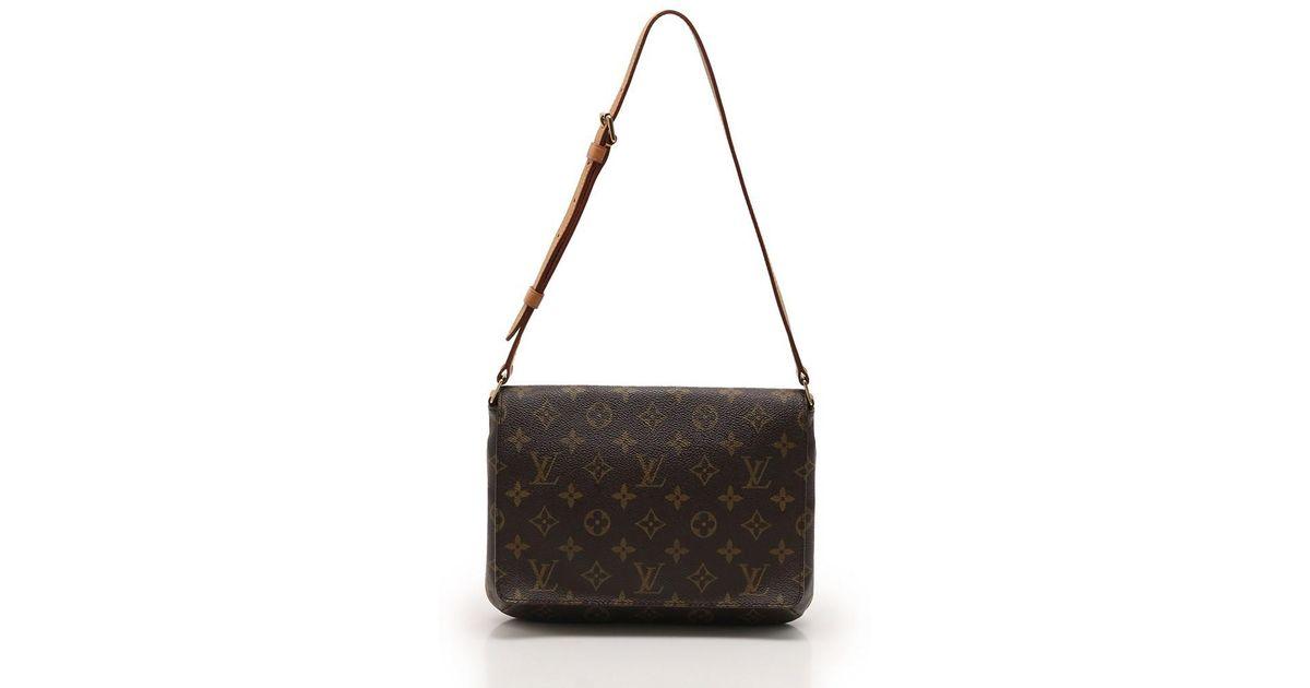 Lyst – Louis Vuitton Musette Tango Short Strap Shoulder Bag Monogram Tea in  Brown 3e4182a615862