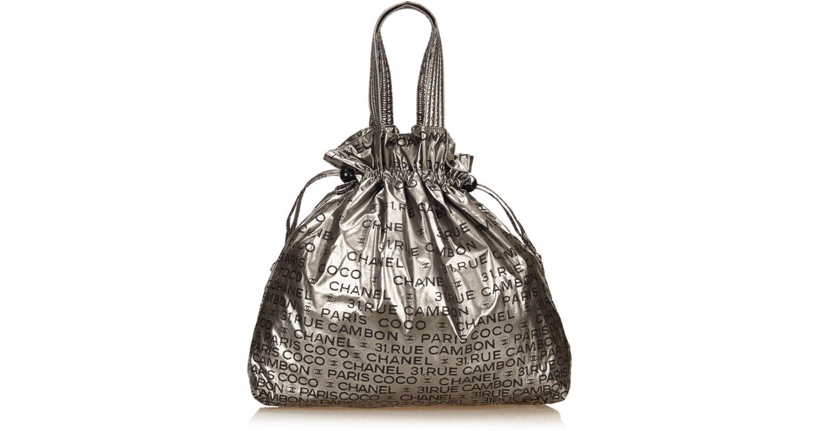 6aaa5ce77c20b7 Chanel Unlimited Tote Bag in Metallic - Lyst
