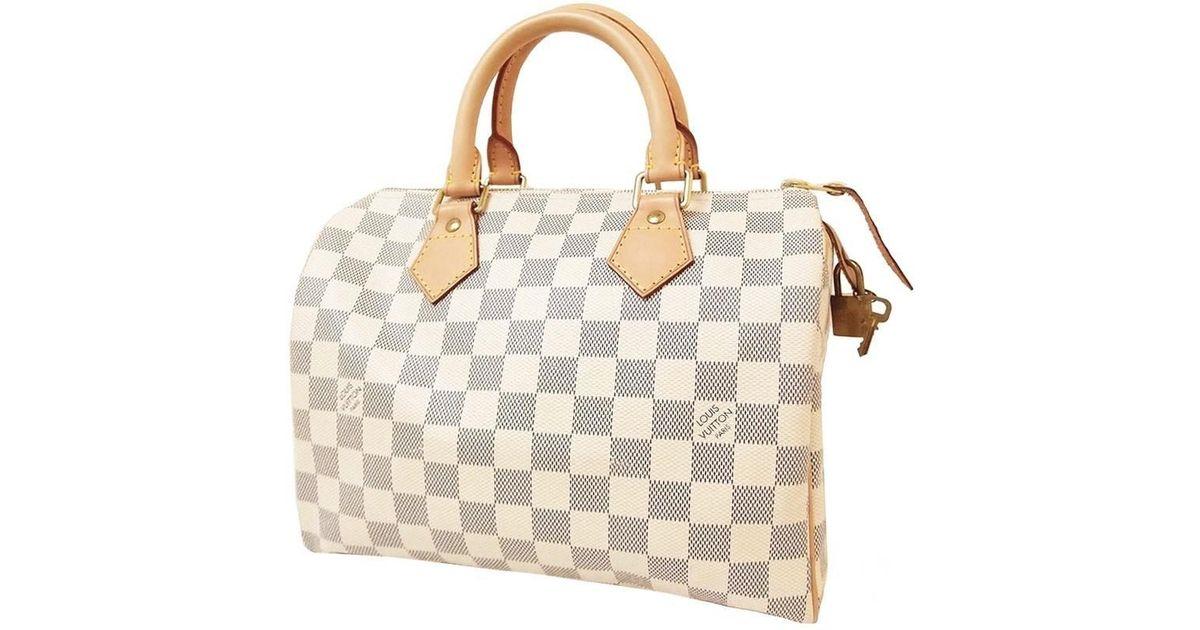 Lyst - Louis Vuitton Speedy 25 Damier Azur N41554 Handbags Boston Bag  Women s in Metallic 6f769abf4