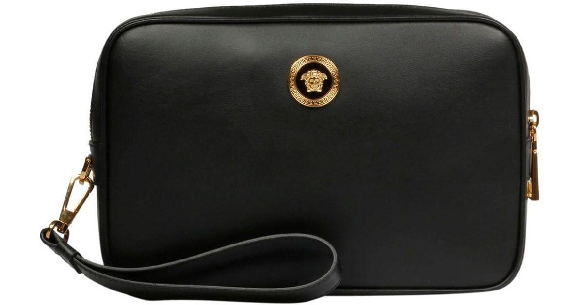 36c7a7b69189 Lyst - Versace Collection Men s Dl24197dvte4d41o Black Leather Shoulder Bag  in Black for Men