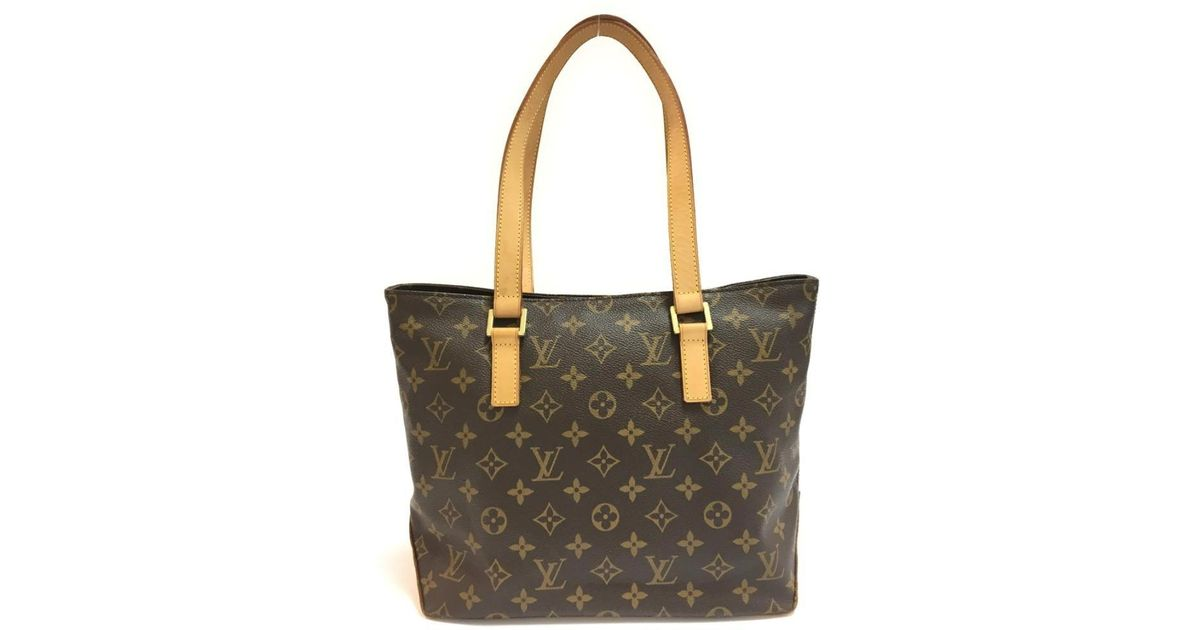 58b819d6eca8 Lyst - Louis Vuitton Cabas Piano Tote Bag Monogram Canvas M51148 in Brown