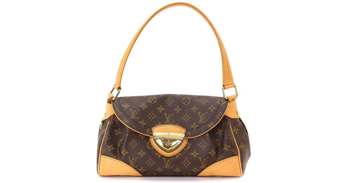 fade41dd680c Lyst - Louis Vuitton Monogram Beverly Mm Shoulder Bag Purse M40121  90025093.. in Brown