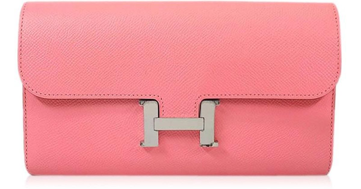 efd0e20841 Lyst - Hermès Constance Long Wallet Rose Confetti Epsom Shw never  Used  authentic  in Metallic