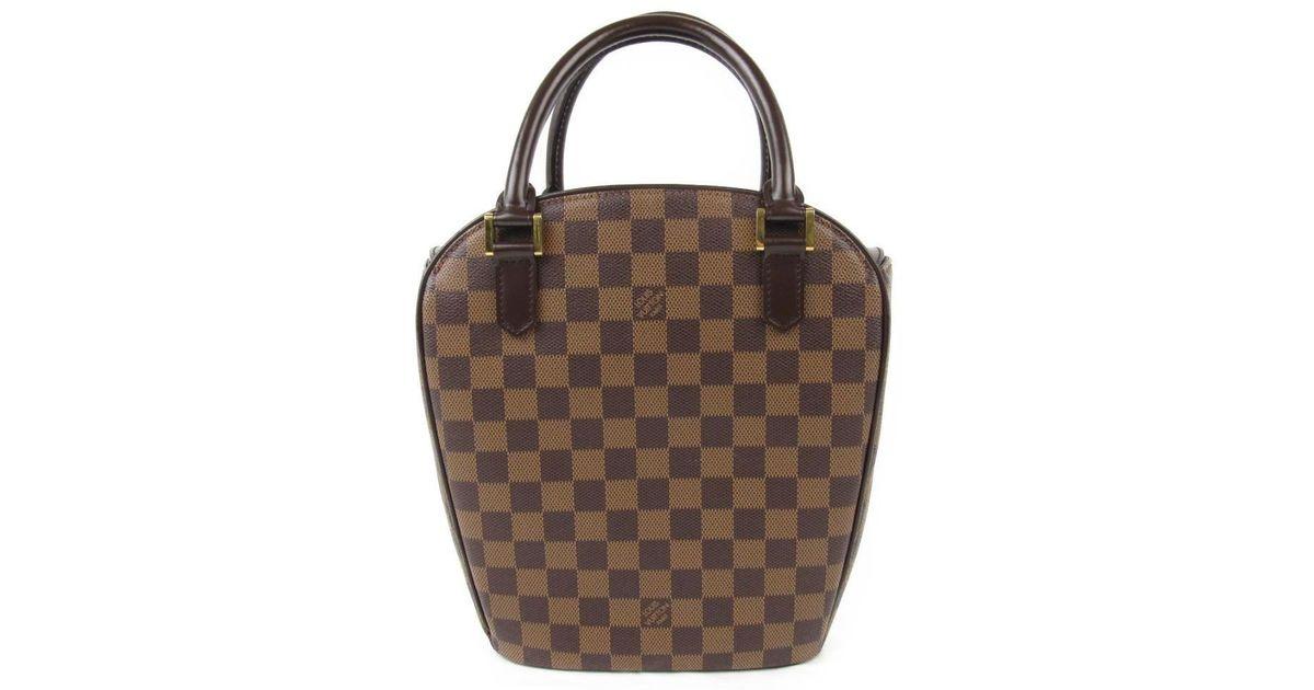 Lyst - Louis Vuitton Sarria Saw Tote Hand Bag N 51284 Damier Canvas in Brown c7ab2975a4
