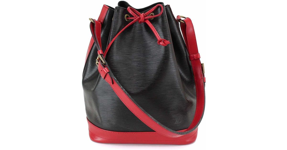 e261df25d54a Lyst - Louis Vuitton Epi Leather Noe Shoulder Bag Red Black M44017 90033456  90033456.. in Black