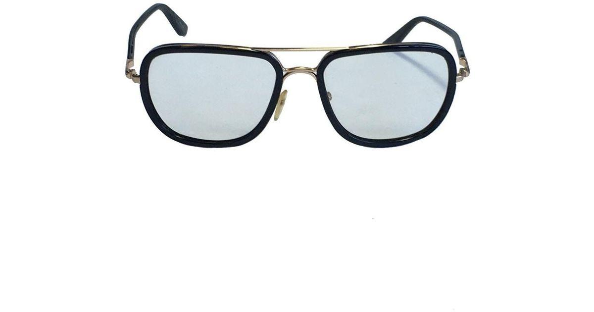 Lyst - Tom Ford Lunettes De Vue Monture En Plastique Cercle De Mtal Dor    in Black 444cd9d30985