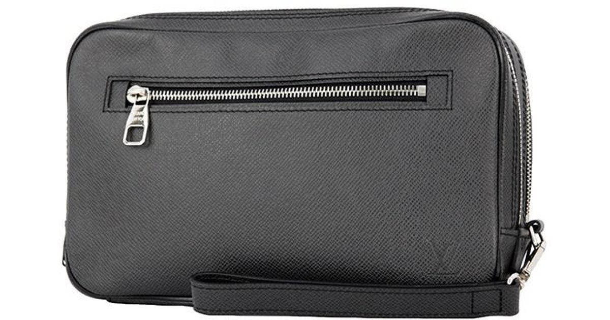 Lyst Louis Vuitton Neo Pavel Taiga Leather Second Bag Clutch Men S Used In Black For