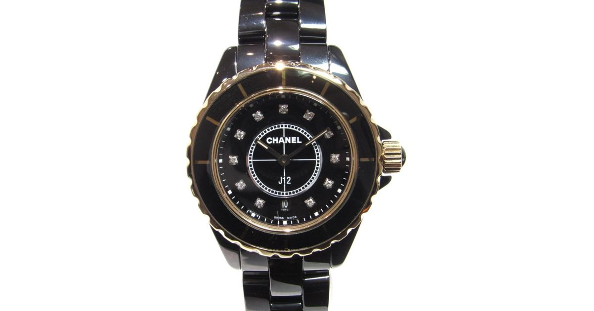 info for 76d5d debc6 Chanel - J12 Watch H2543 Quartz Black Series Ceramic / K18pg (750) for Men  - Lyst