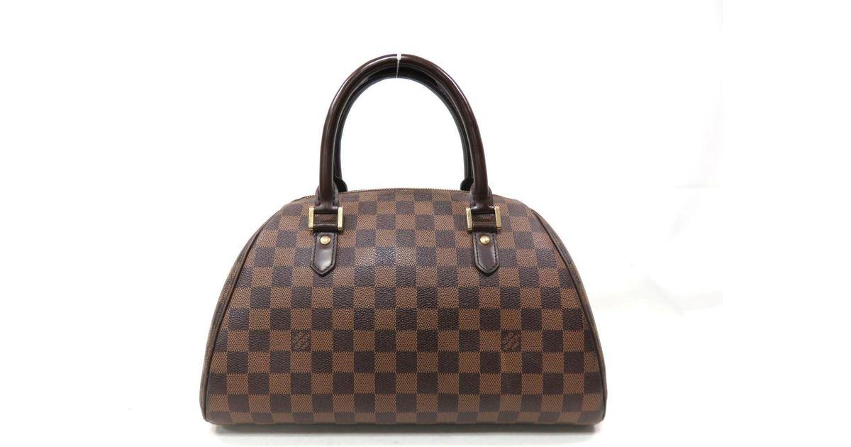 4f26e7fc9583 Lyst Louis Vuitton Ribera Mm Hand Bag Damier Ebene Mini Boston