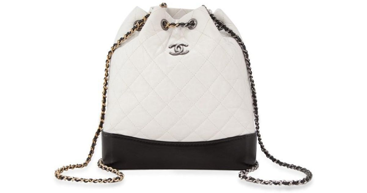 Lyst - Chanel Pre-owned Gabrielle Backpack in Black ac6defcb0d389