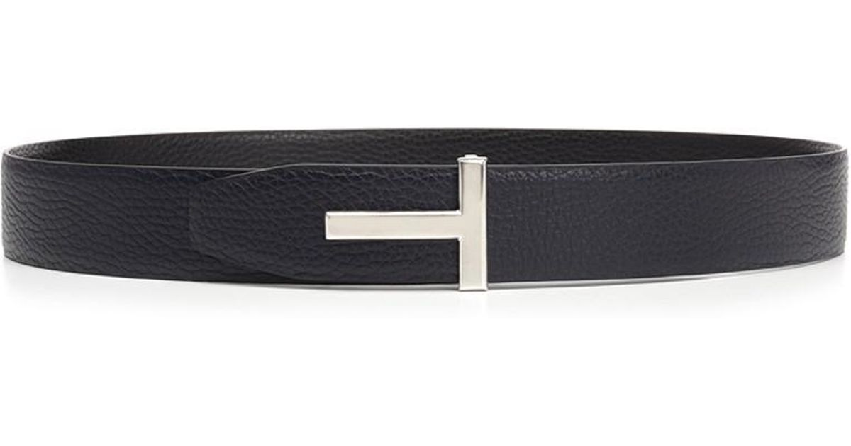 8671a5d563add Lyst - Tom Ford Belts Fw18 T Belt in Blue for Men