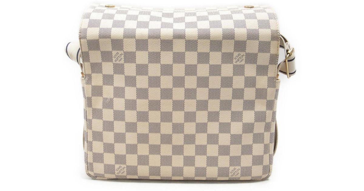 e1485e2aaff7 Lyst - Louis Vuitton Damier Azur Naviglio Shoulder Crossbody Bag White  N51189 in White