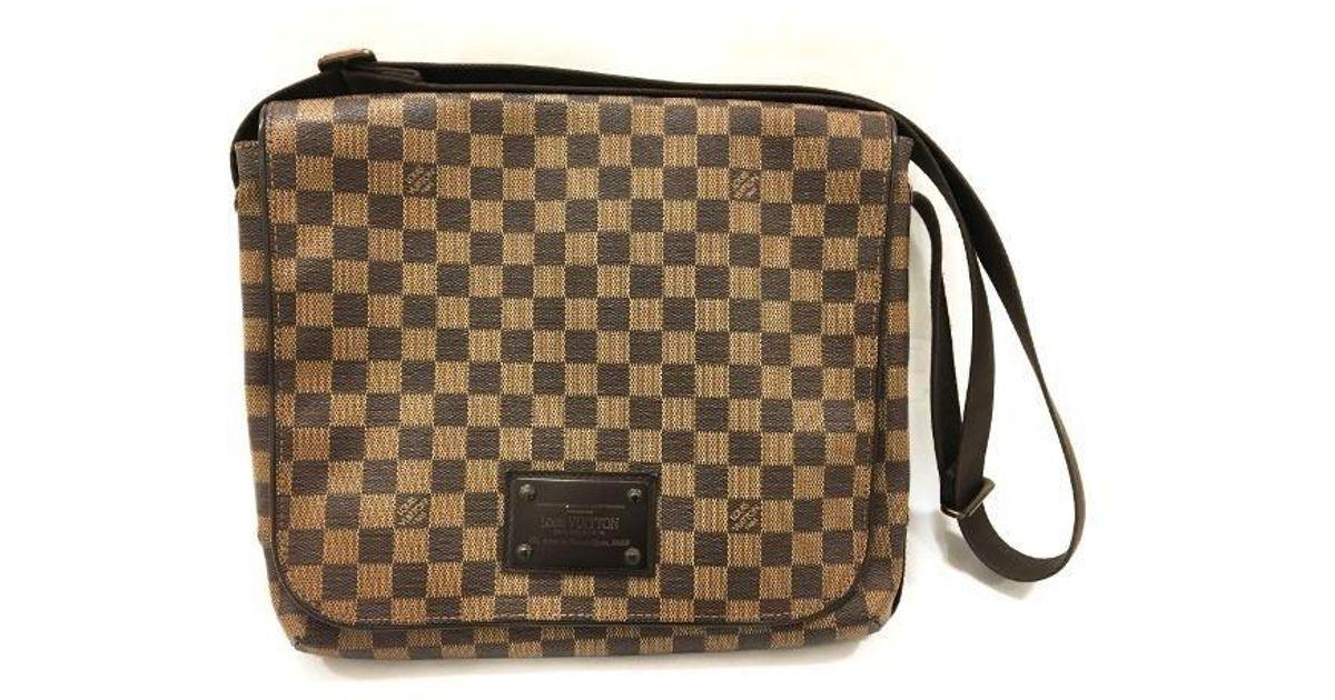 18318e41ac6d Lyst - Louis Vuitton Damier Brooklyn Mm Messenger Bag Brown N51211 3350 in  Brown for Men