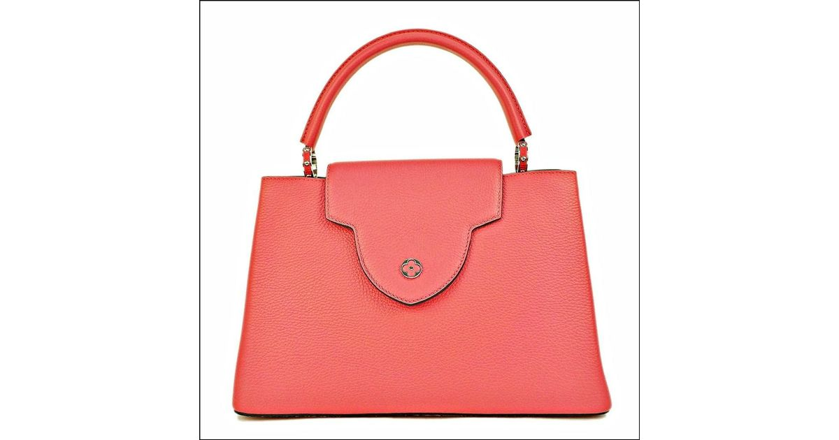 5fb375094237 Lyst - Louis Vuitton Hand Bag Capucines Mm Taurillon Leather Rose Rich  (dark Pink) M94671 (s) in Pink