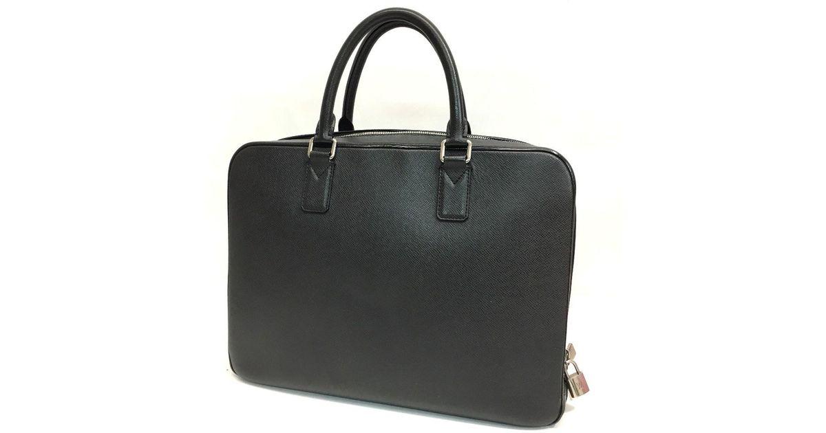 23186c4b533 Lyst louis vuitton taiga neo igor briefcase business bag ardoise in gray  for men jpeg 1200x630