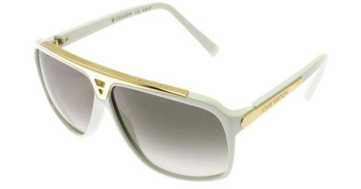 045582a5a6 Lyst - Louis Vuitton Sunglasses White in White