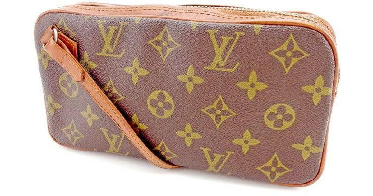 Lyst - Louis Vuitton Pouch Monogram Womens Mens Used T1540 in Brown adc91af6e