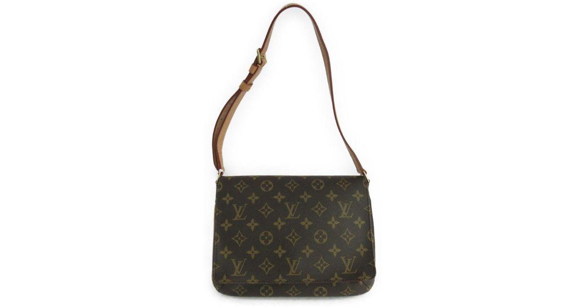 6f7dd5f6b1fb Lyst - Louis Vuitton Musette Tango Short Flap Shoulder Bag M51257 Monogram  Canvas in Brown