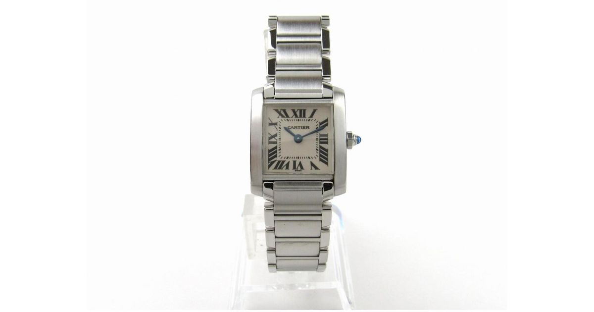 641af0d231128 Lyst - Cartier Auth Tank Francaise Sm Watch W51008q3 Quartz Stainless Steel  (ss) Used in Metallic