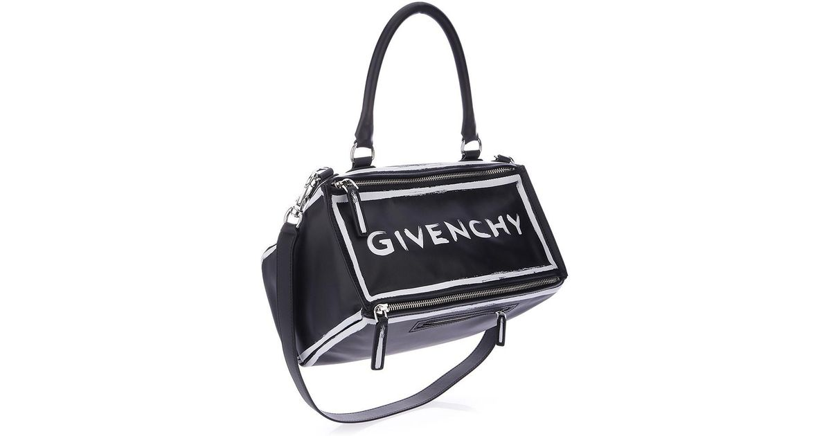 e95ba81581a2c Lyst - Givenchy Bags Ss18 Pandora Medium Shoulder Bag With Graffiti Print  in Black