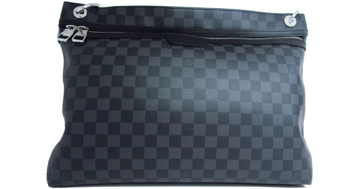 baf1e1b2f7a9 Lyst - Louis Vuitton Damier Graphite Hunter Shoulder Crossbody Bag N41656  in Black
