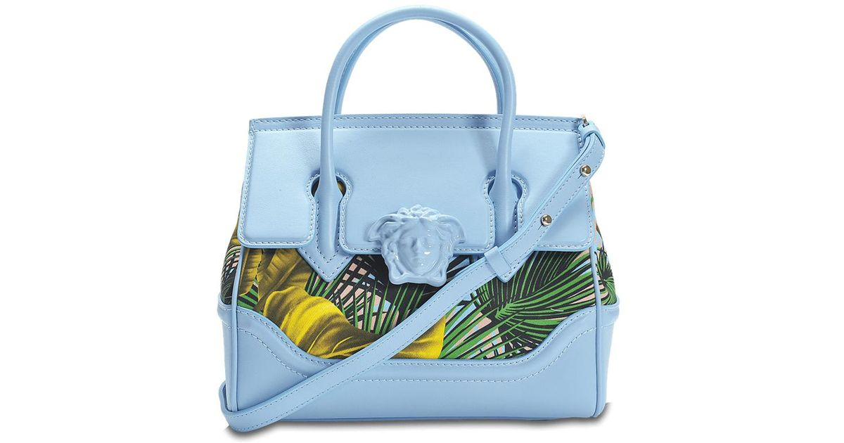 f309f427c6b6 Lyst - Versace Palazzo Empire Small Bag in Blue