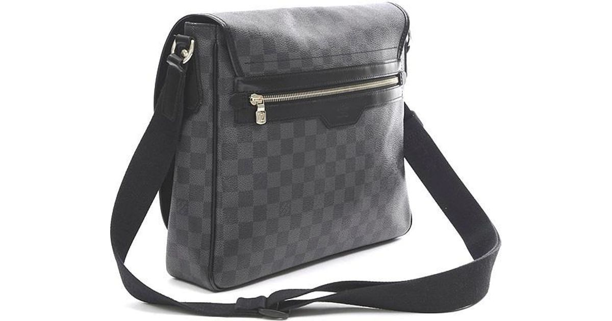 73e1eecba134 Lyst - Louis Vuitton Damier Graphite Daniel Mm Shoulder Bag N 58029 in  Black for Men