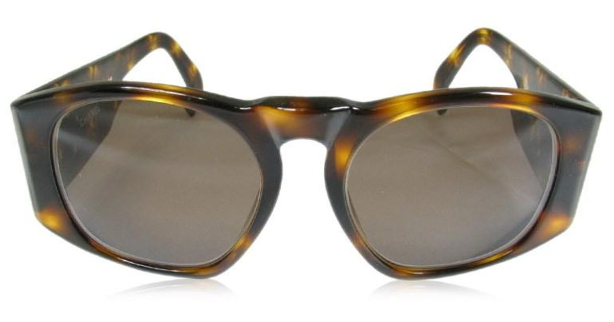 738fd01e00 Lyst - Chanel Vintage Sunglasses Plastic Brown Tortoiseshell Patterned Cc  in Brown