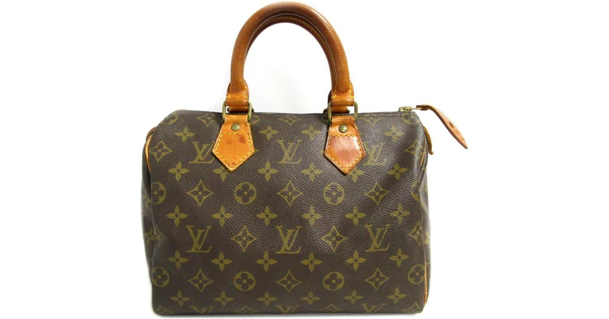 bb7f6eb9 Louis Vuitton - Brown Authentic Speedy 25 Handbag M41528 Monogram Used  Vintage - Lyst