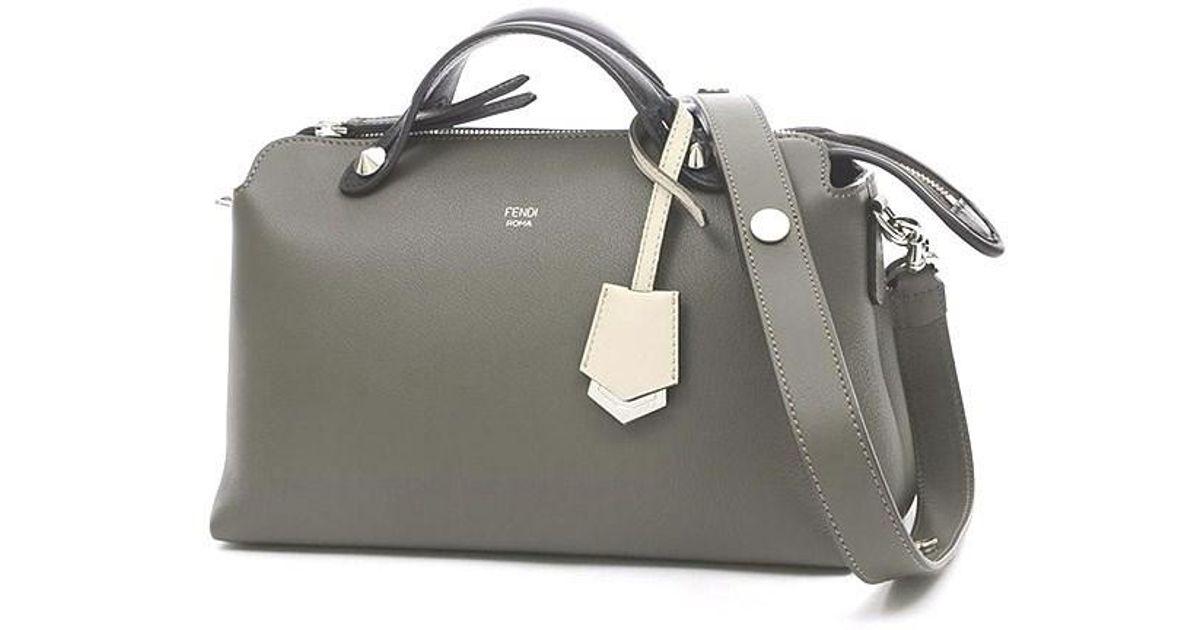 23e3c742c8 Fendi Visorway 2 Way Bag Leather Multi Color 8 Bl124 in Gray - Lyst