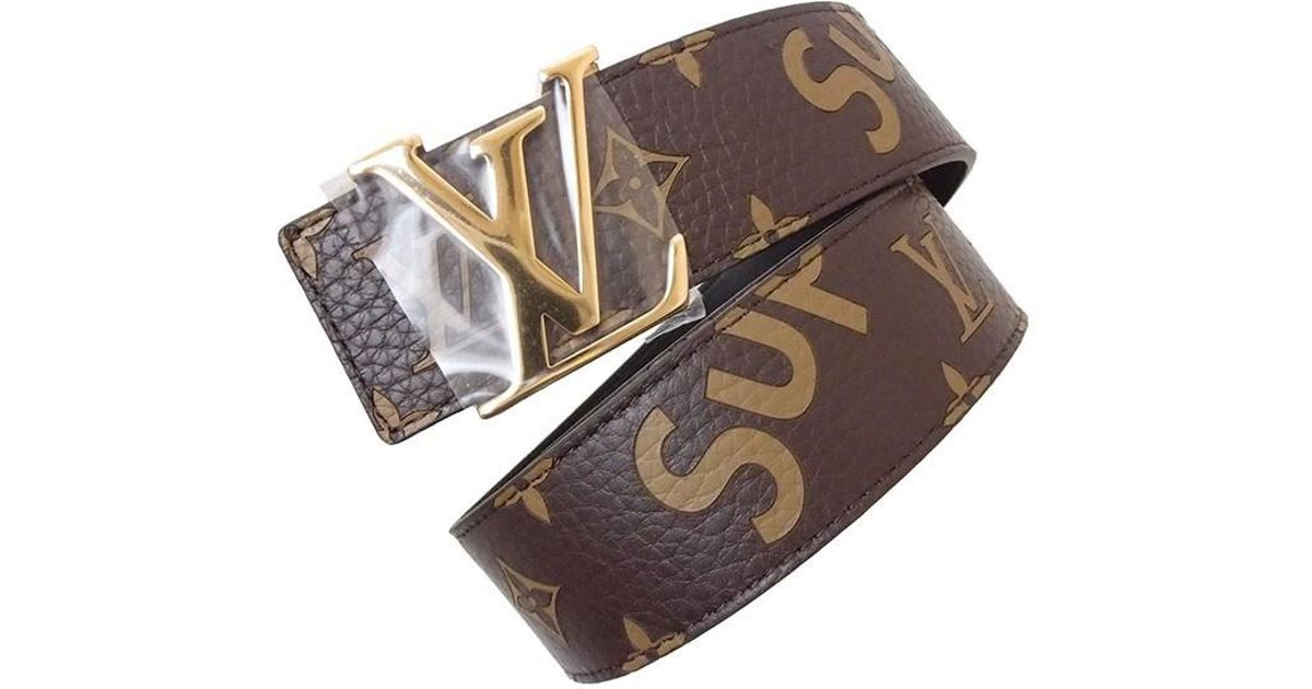 649221b3ada7 Lyst - Louis Vuitton X Supreme Lv Initial 40 Belt Monogram Leather Brown  95cm(37.4)  new  in Brown for Men